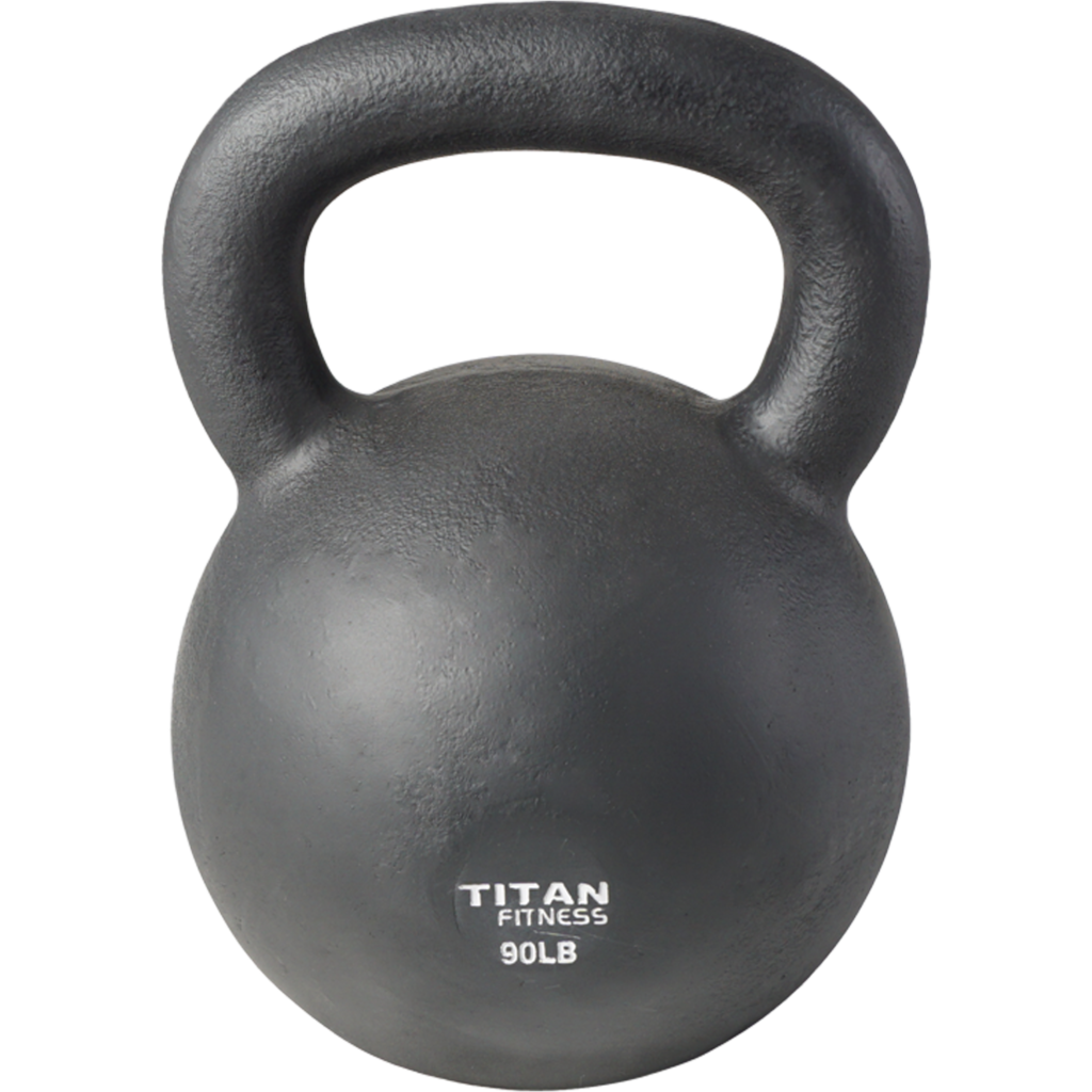 Cast Iron Kettlebell Weight 90 lb Natural Solid Titan Fitness Workout Swing $127.00