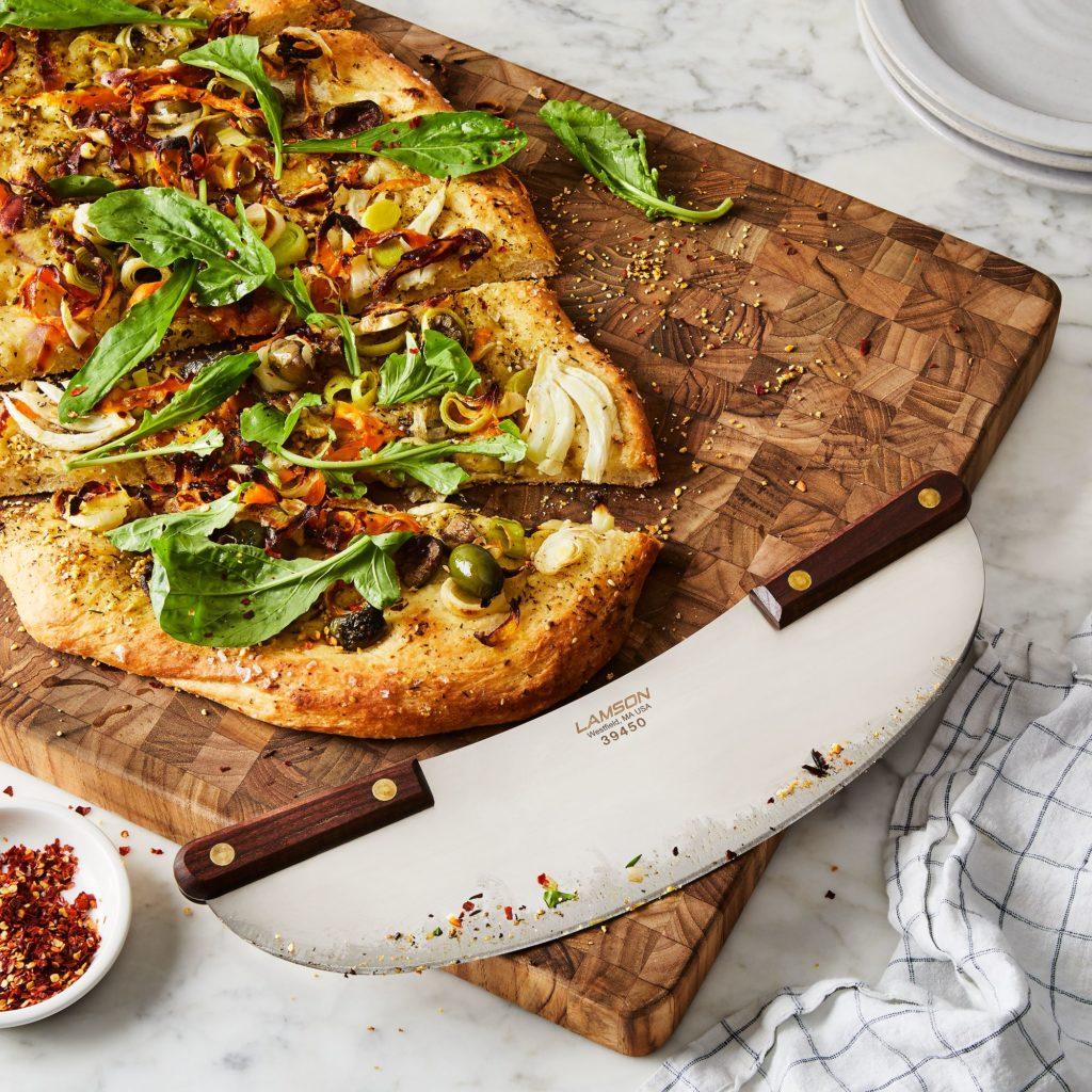 Walnut Wood Pizza Rocker $36