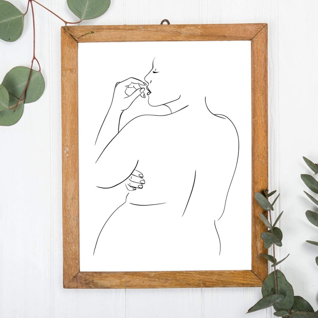 Abstract Woman's Body Positive Wall Decor Art Print Poster $13.99