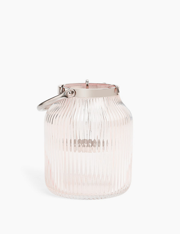 Glass Ridged Lantern $22.00
