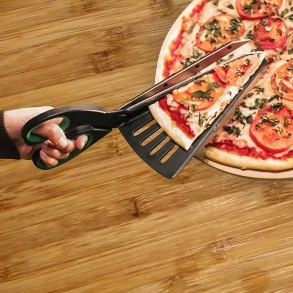 Pizza Scissors , Cutter Spatula - Green $14.03