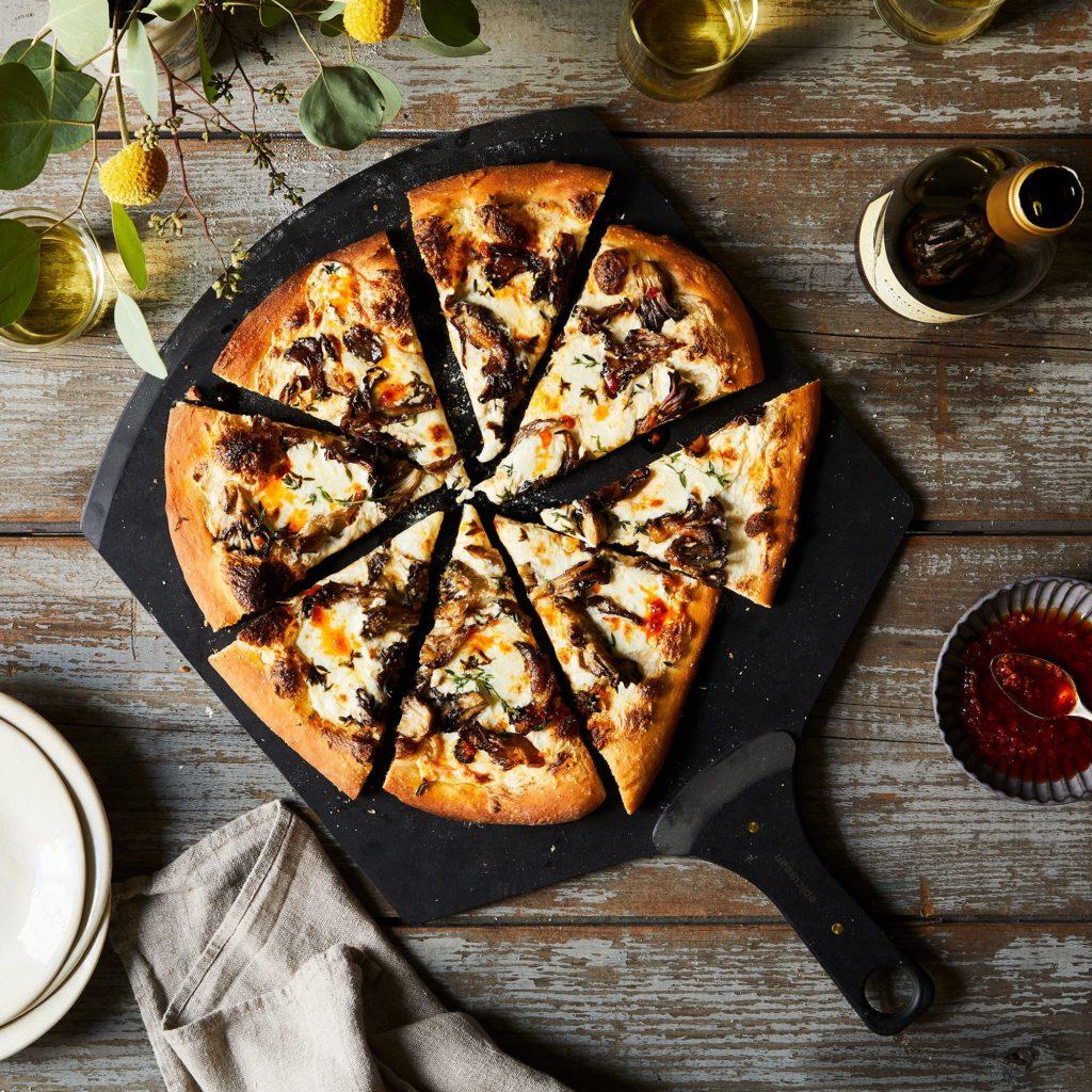 Matte Black & Brass Pizza Peel $59