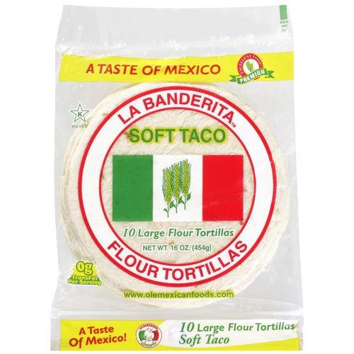 "La Banderita Flour 8"" Soft Taco Tortillas, 10 ct $2.48"