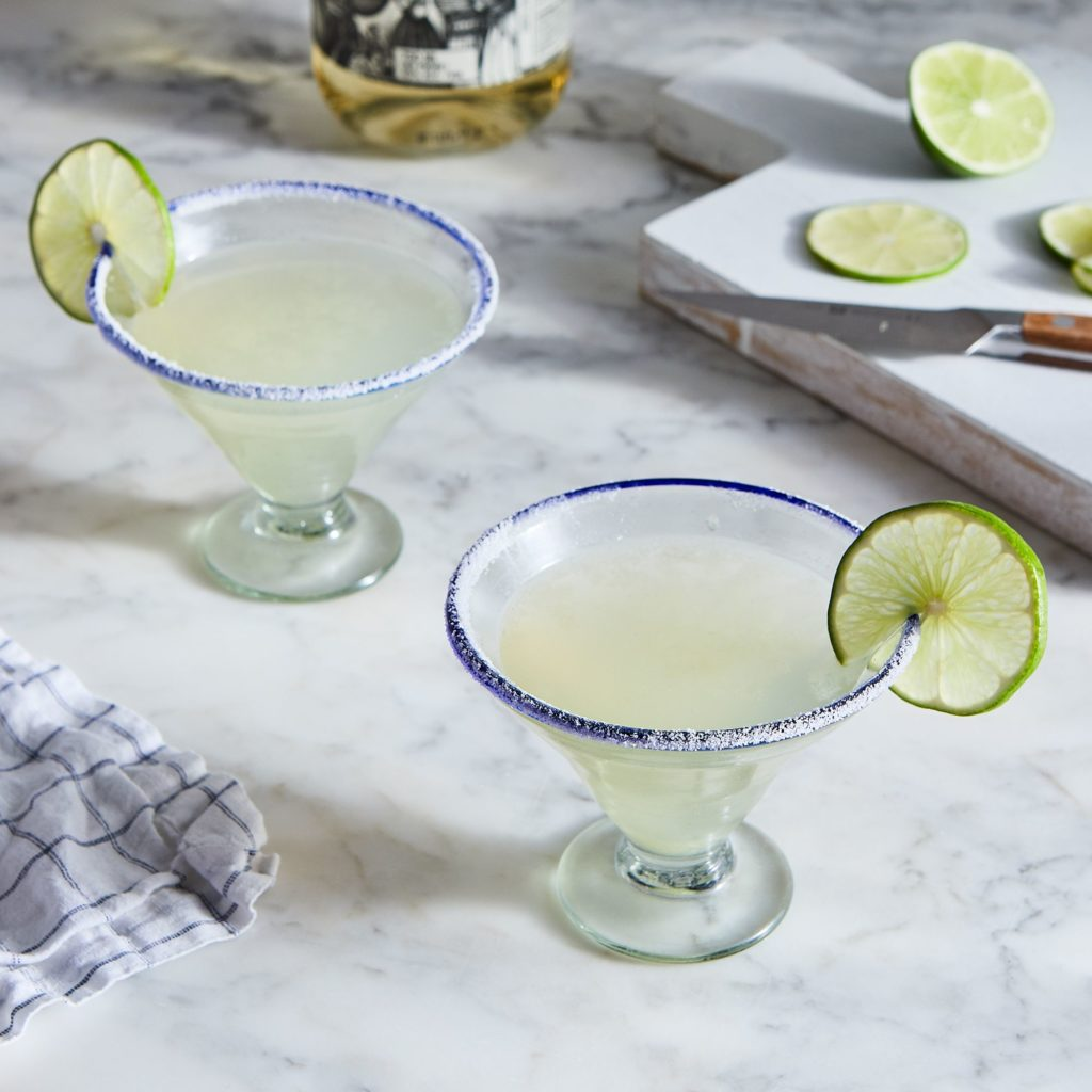 Hand-Blown Recycled Margarita Glasses (Set of 2)$38