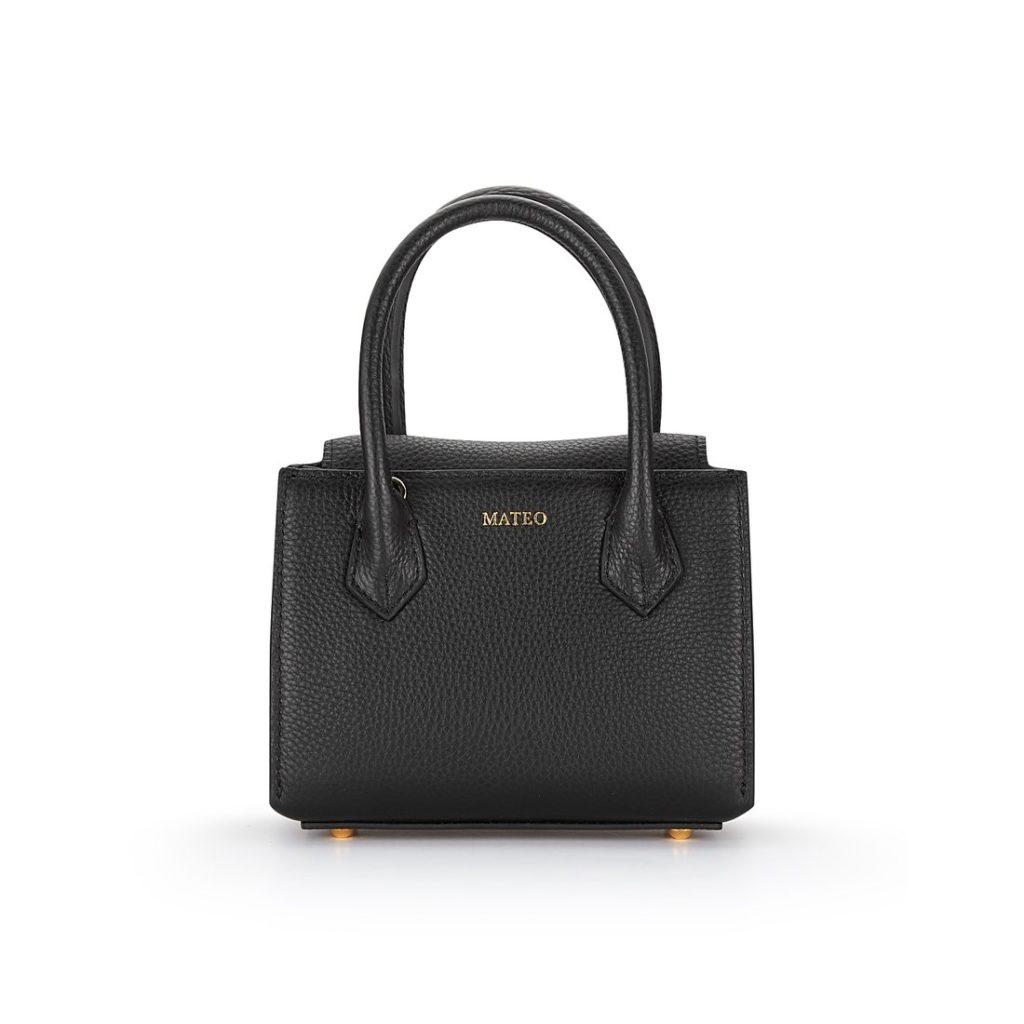 Black Pebbled Leather Diana Bag byMATEO NY $295.00