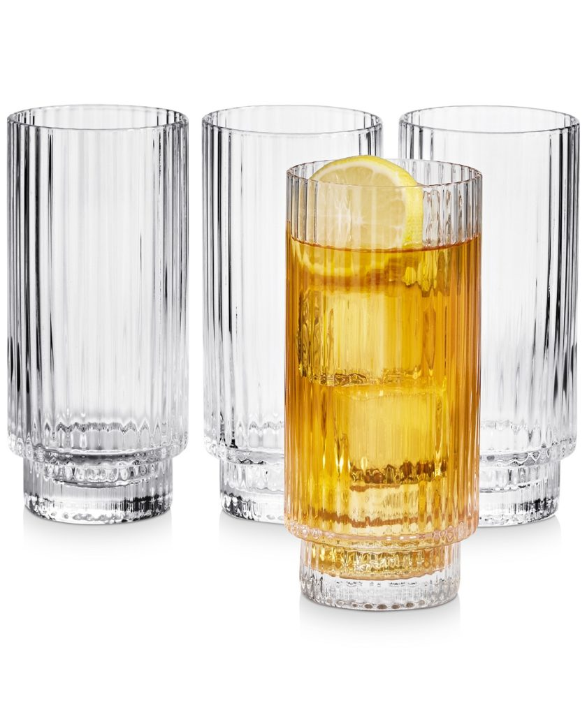 Fluted Highball Glasses, Set of 4, Created for Macy's $37.20