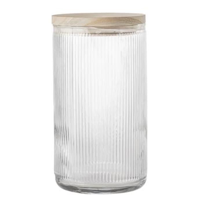 Jar W Lid Clear Glass $57.99