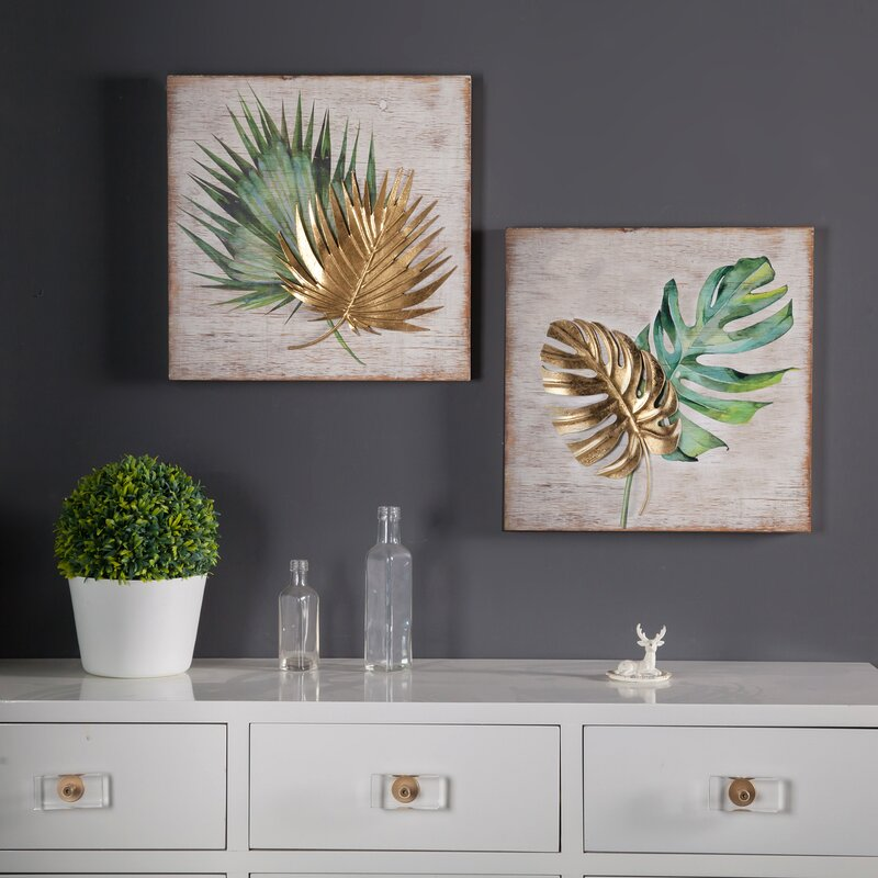 2 Piece Leaf Wall Décor Set $88.99