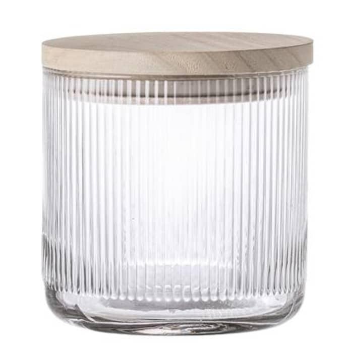 Jar W Lid Clear Glass $33.49