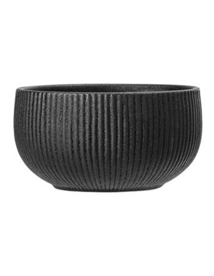 Ribbed Black Neri Bowl $19.99