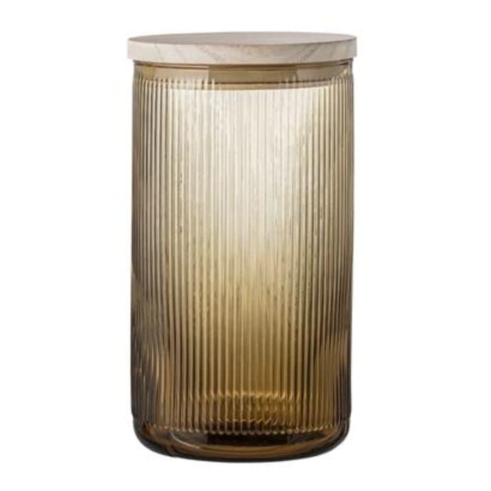 Jar W Lid Brown Glass $57.99