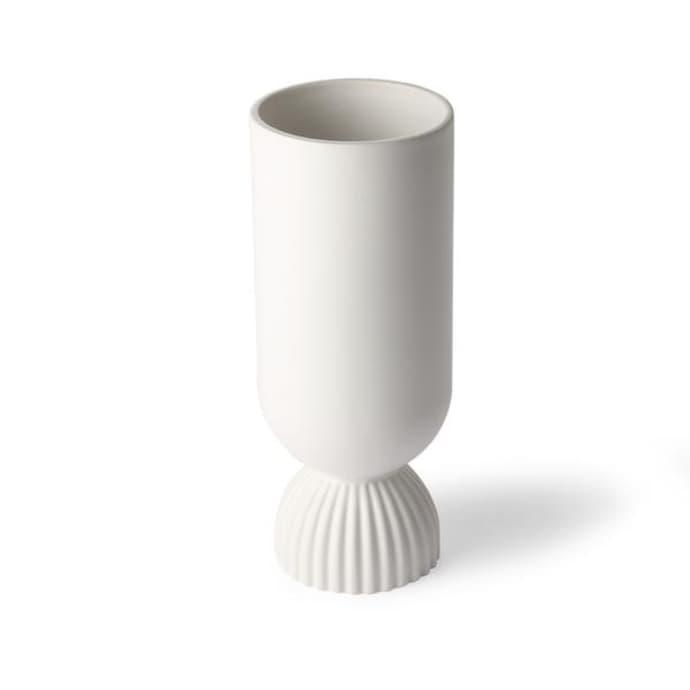 Ceramic Vase With Ribbed Base $42.49