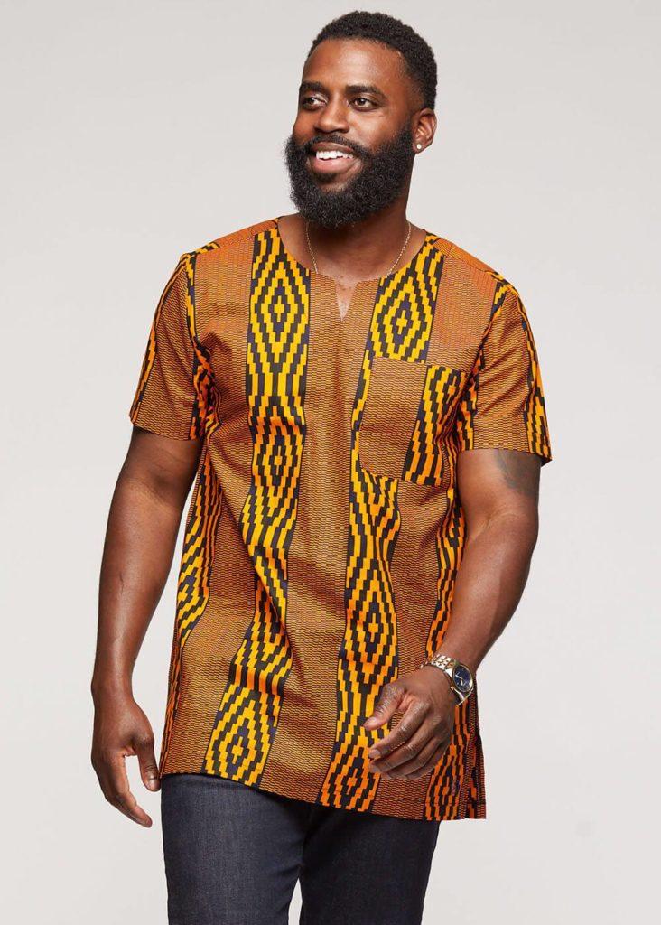 ALAMINI AFRICAN PRINT MEN'S TUNIC $49.99