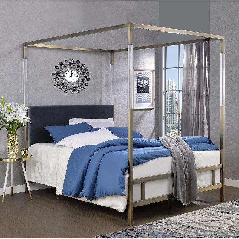 Firkins Queen Upholstered Canopy Bed $1,139.99