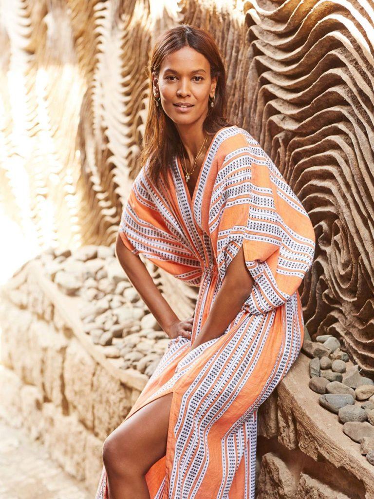 AMIRA ORANGE PLUNGE NECK DRESS $495.00
