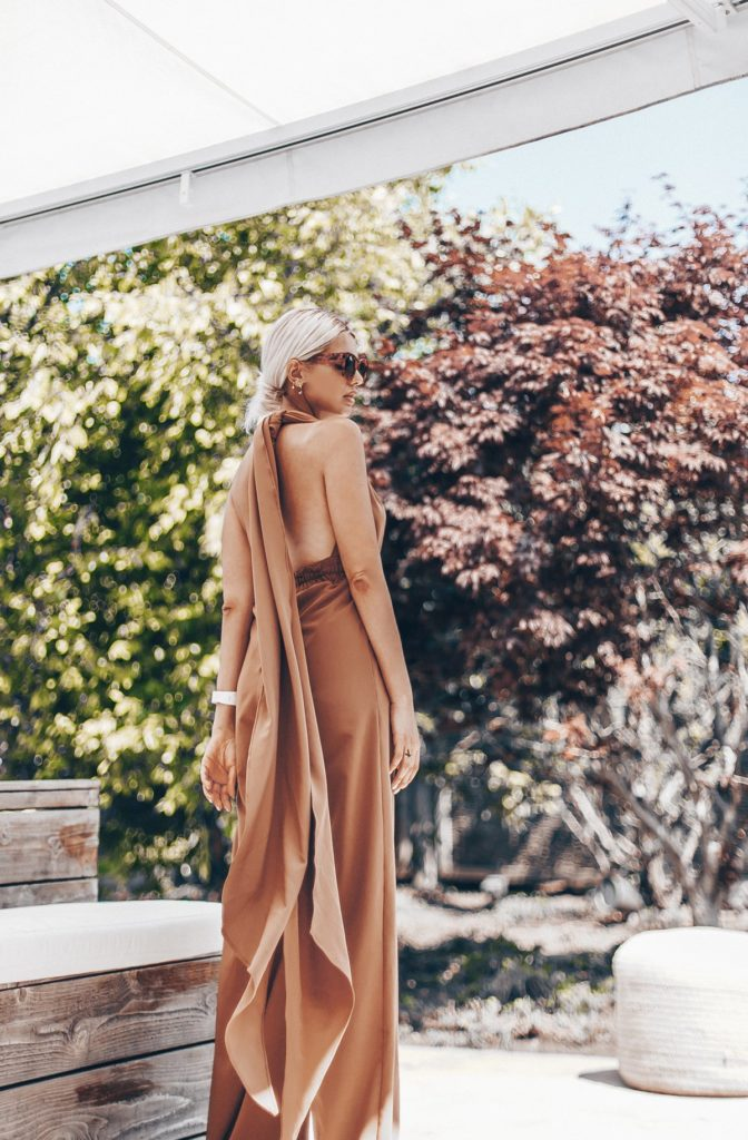 UMY CAMEL CONVERTIBLE JUMPSUIT $195