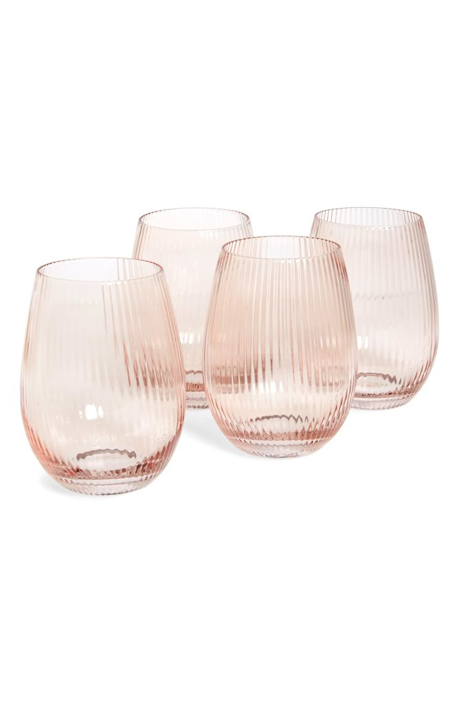 Set of 4 Stemless Wine Glasses RACHEL PARCELL $45.00