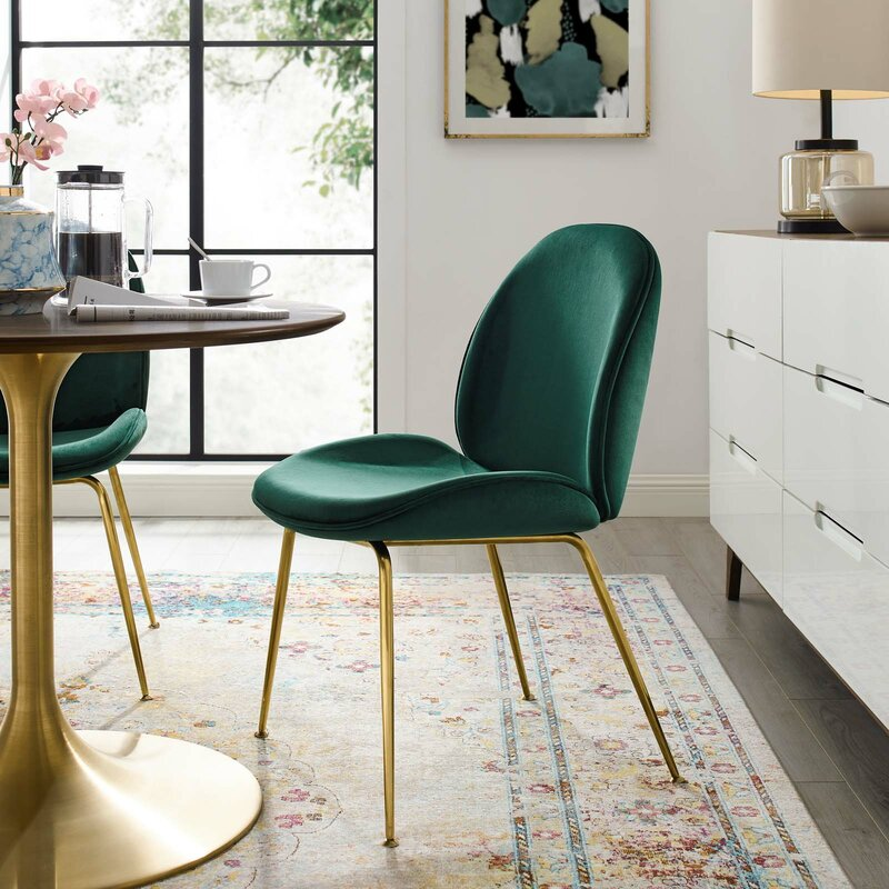Jaynes Upholstered Velvet Side Chair $169.99
