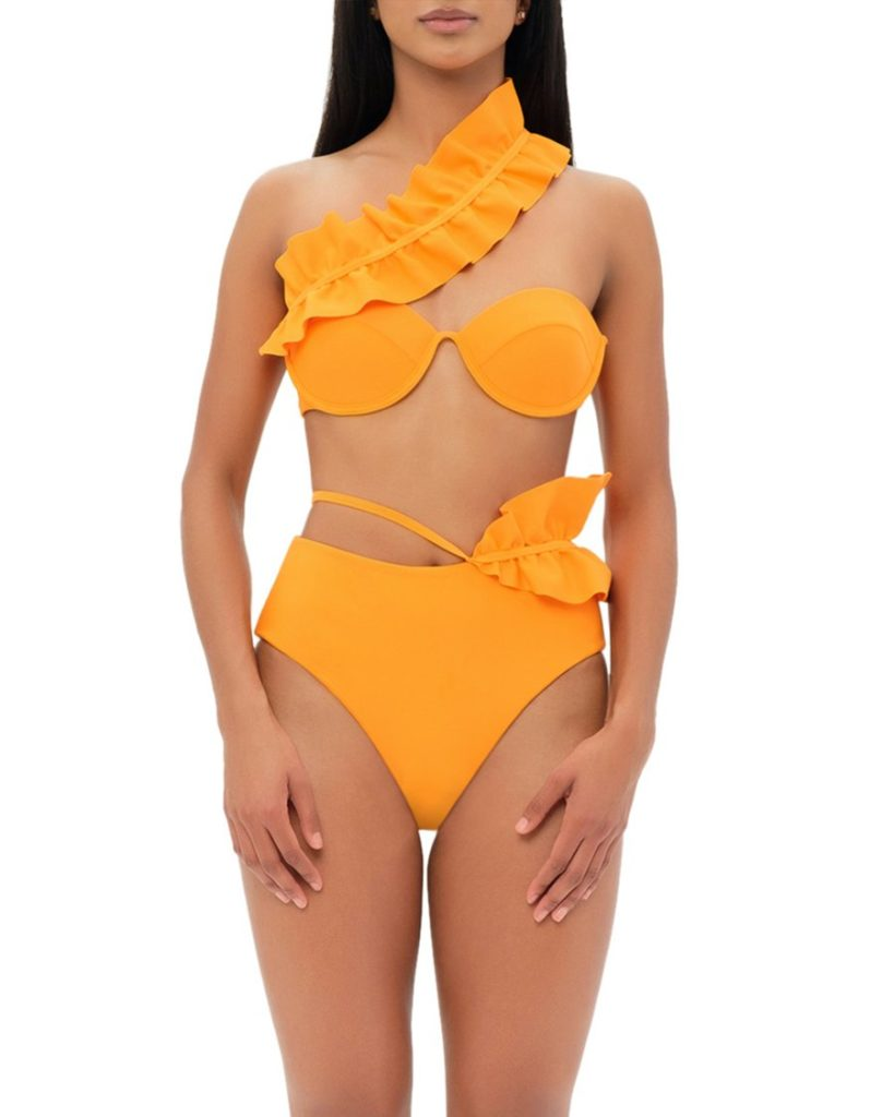 KARI ORANGE HIGH WAIST BIKINI $195