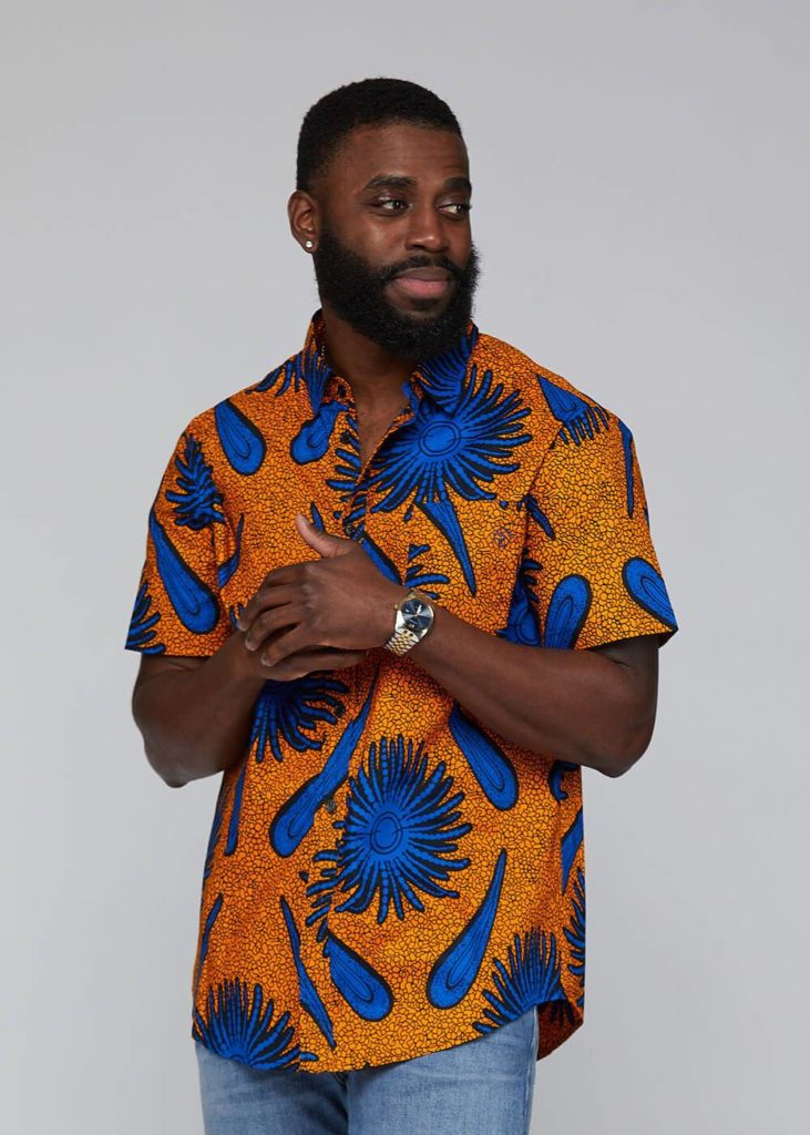 KEYON AFRICAN PRINT BUTTON-UP SHIRT $54.99