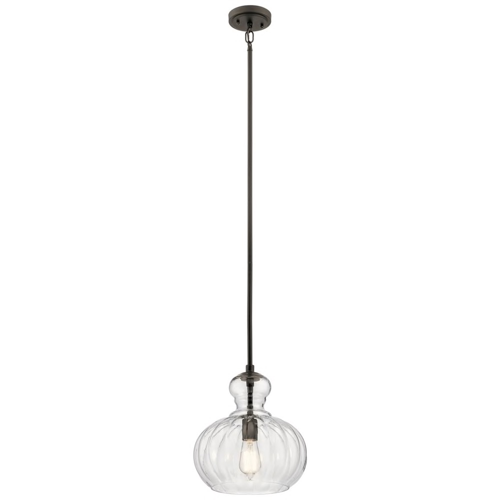 Kichler Lighting Riviera Collection 1-light Olde Bronze Pendant $179.99