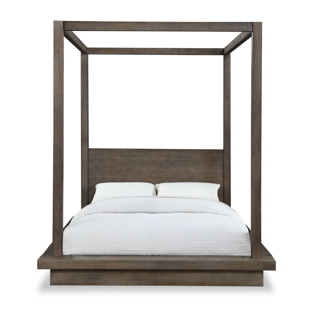 Carbon Loft Carnegie Full-size Canopy Bed in Dark Pine $1,186.82