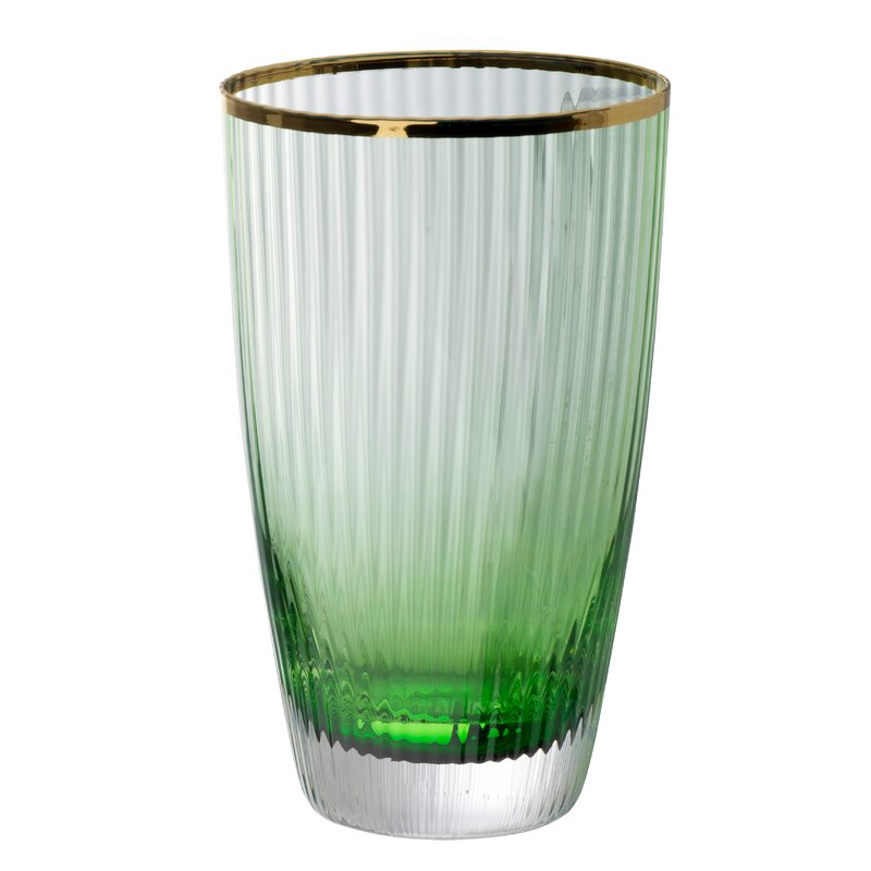 Shelia Glass Cup - Green, Gold $33.99