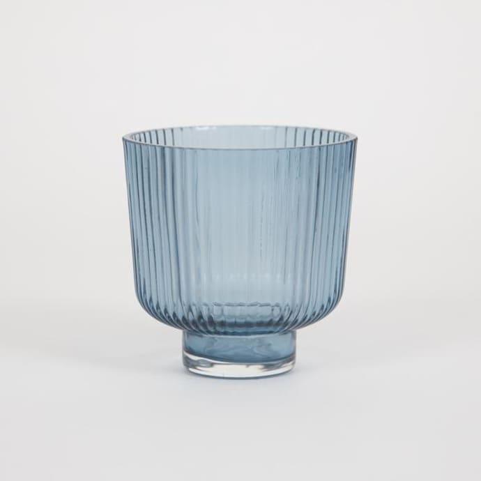Blue Glass Flowerpot$18.49