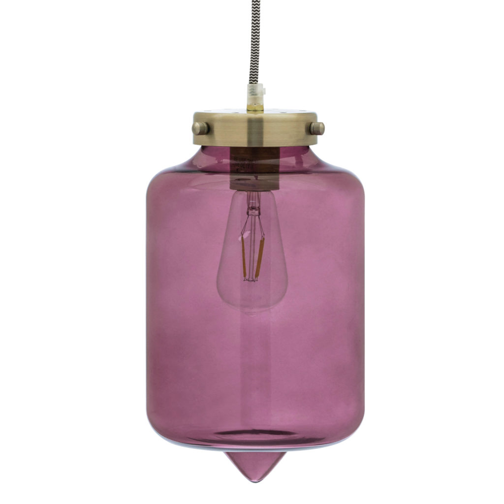 Venetian Wine Cocoon Style Glass Pendant Light by Drew Barrymore Flower Home, UL Listed, LED Bulb Included $39.00