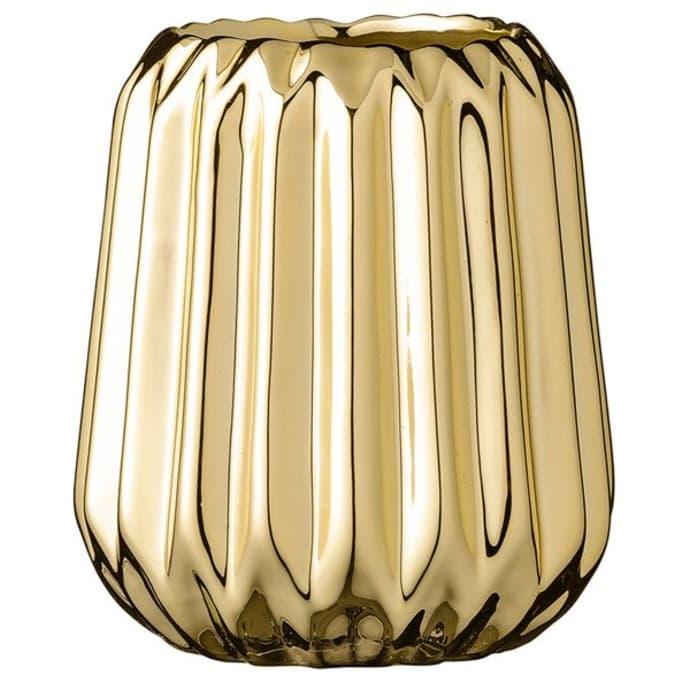 Fluted Golden Vase $18.49