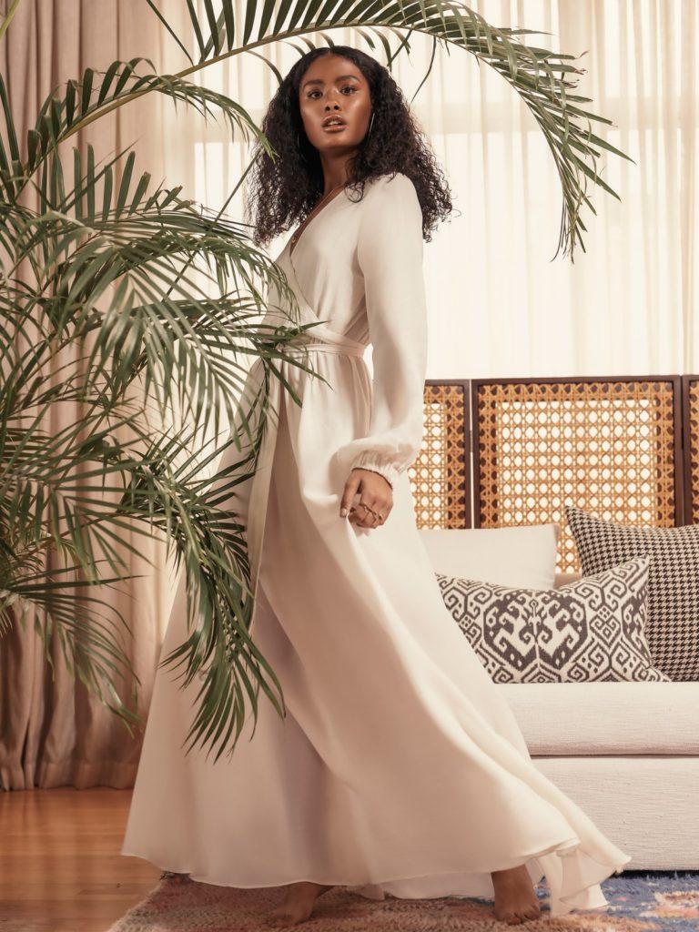 SUSTAINABLE MARIEME DRESS - BLANC $235