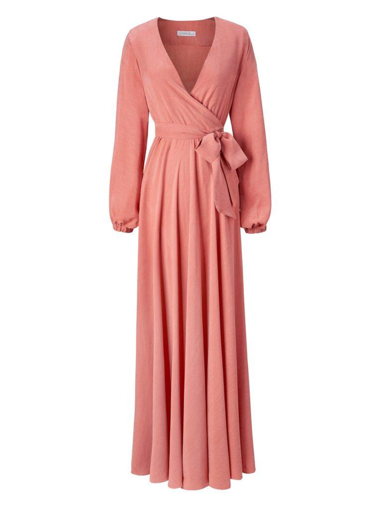 SUSTAINABLE MARIEME DRESS - SALMON $235