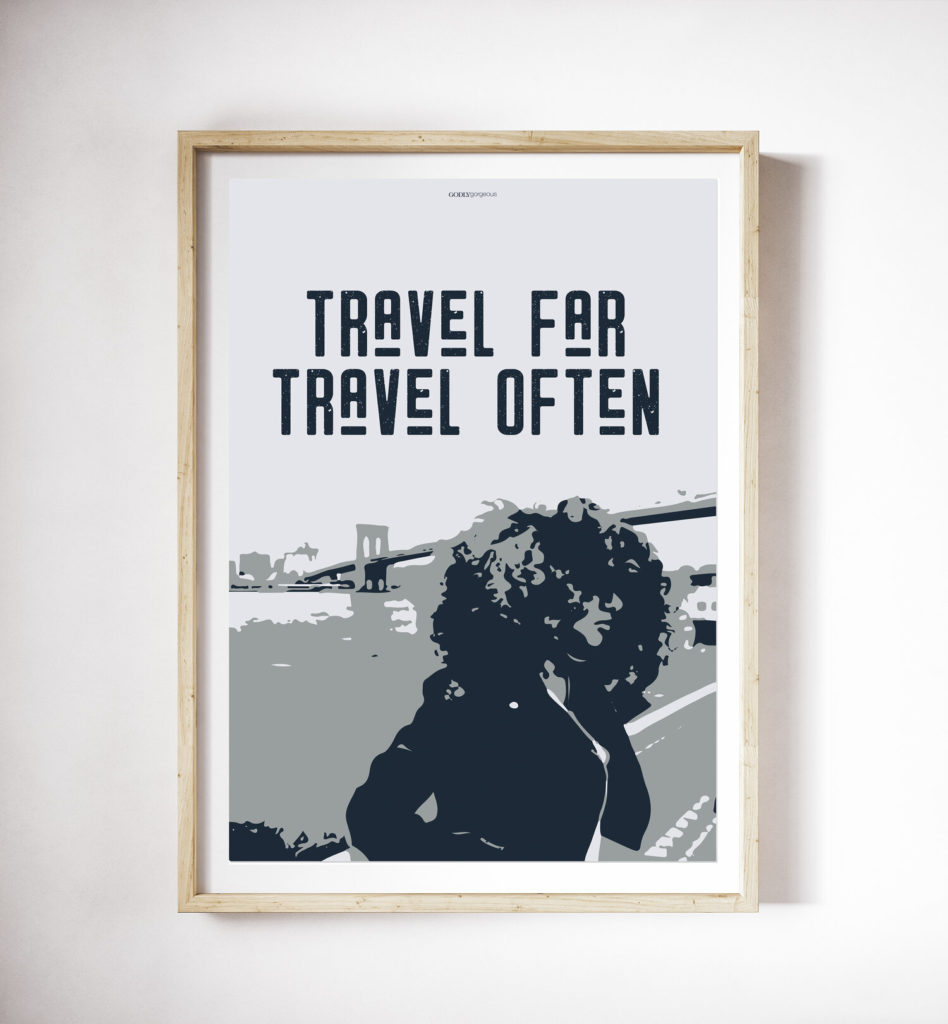 Travel Far Print from10.00