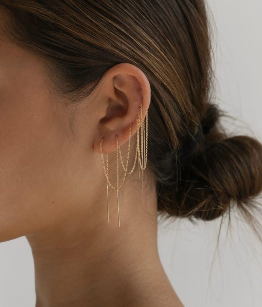NEEDLE AND THREAD EARRINGS $180.00