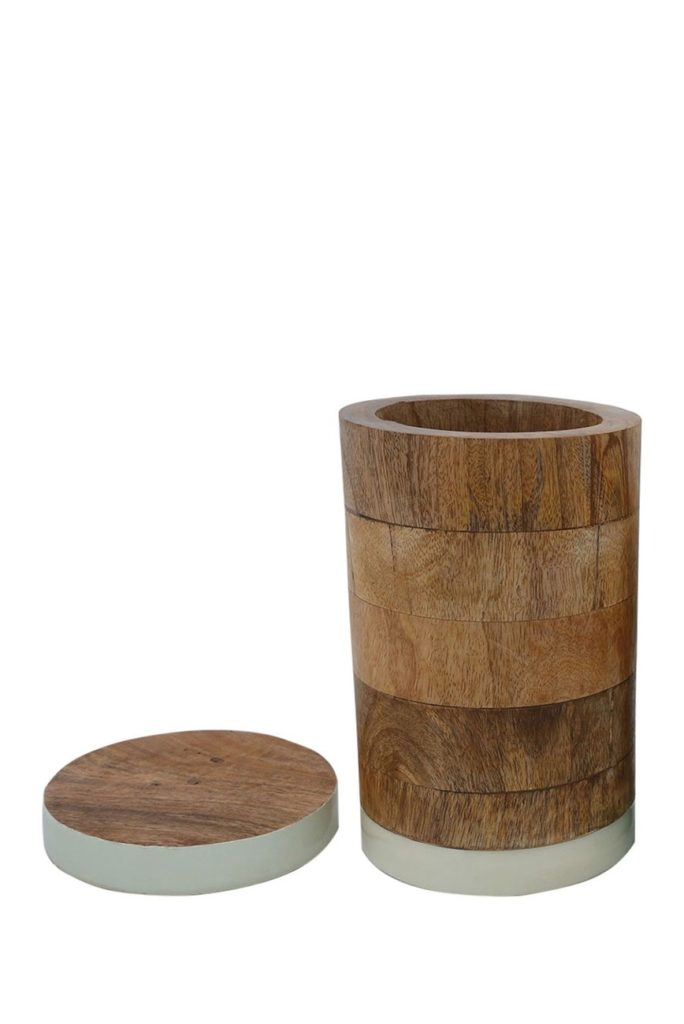 Foreside Home & GardenWhite Mango Wood Canister $22.48