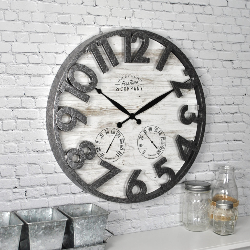 Farmhouse Outdoor Wall Clock $29.23