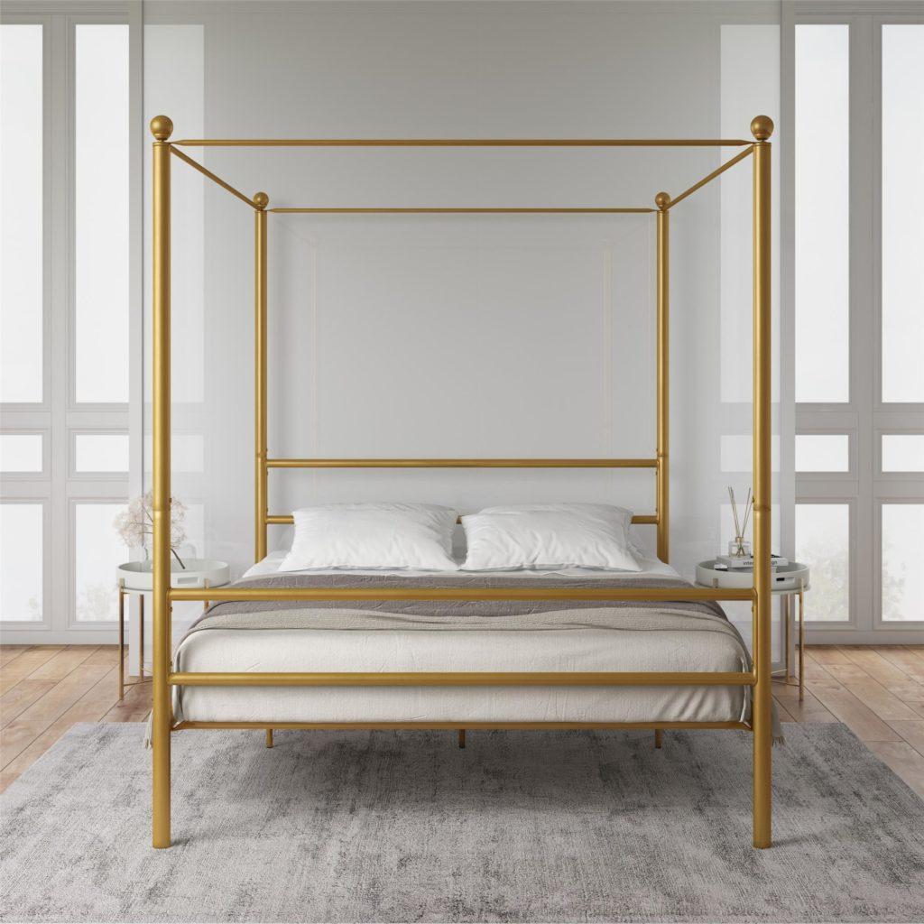 Mainstays Queen Black Metal Canopy Bed $159.00