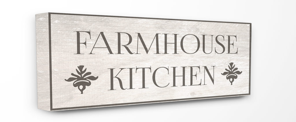 Stupell Farmhouse Kitchen Typography Canvas Art, 10 x 1.5 x 24 $19.58- $73.11