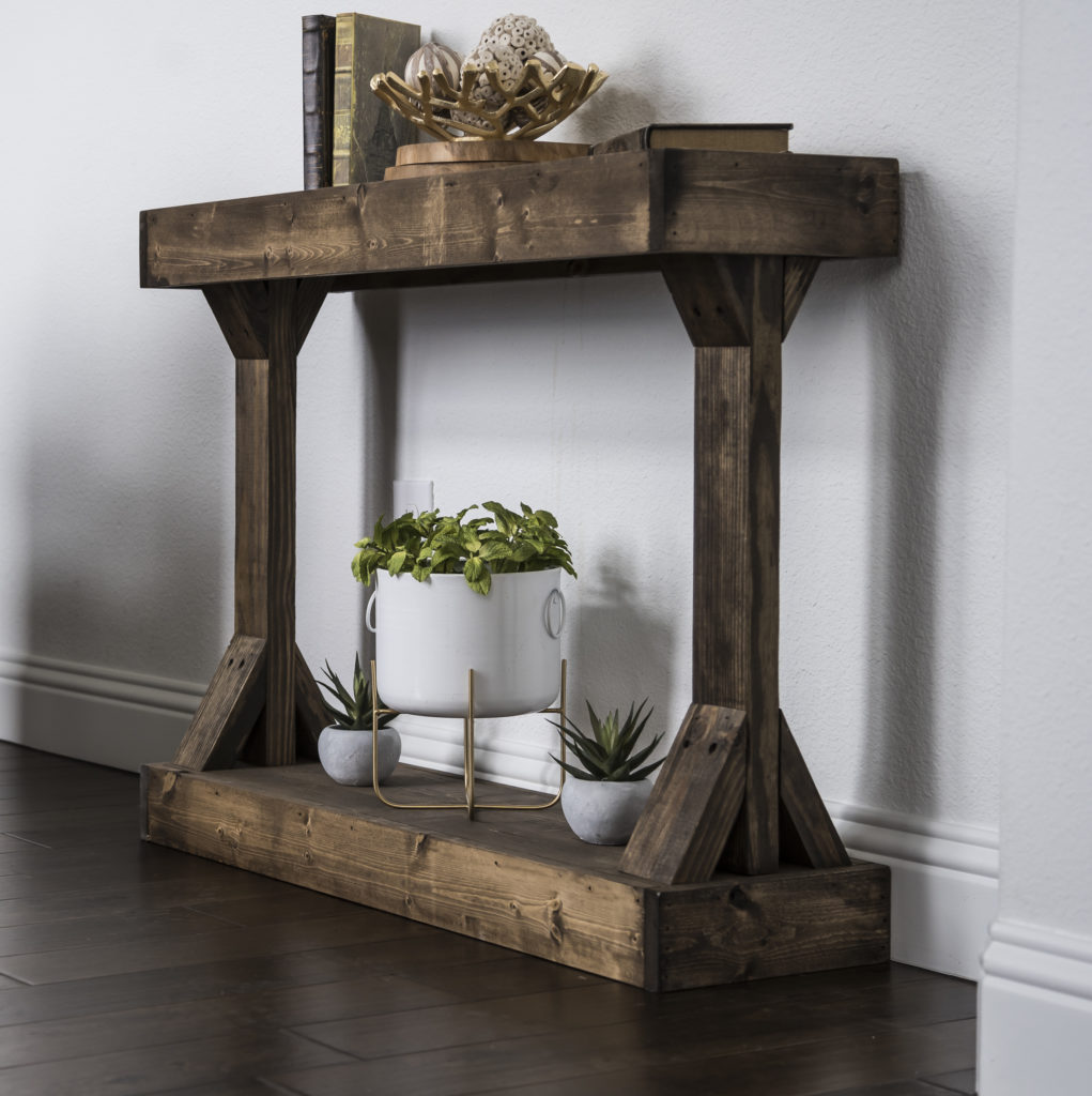 Barb Small Console Table Solid Wood  $94.63