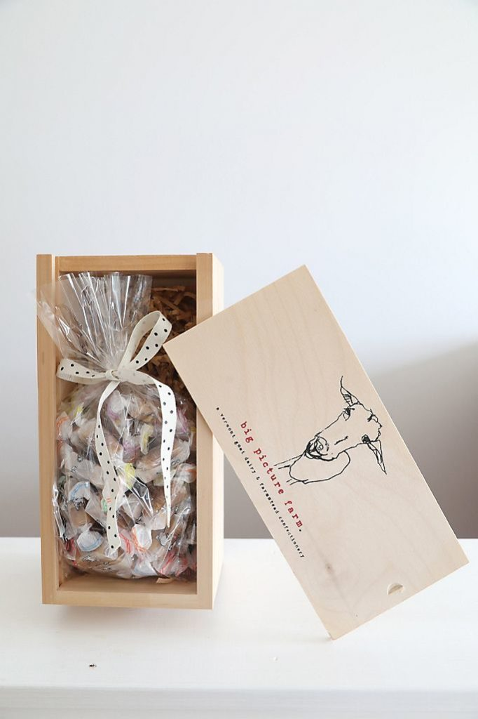 Big Picture Farm Caramels Wooden Gift Box $50.00