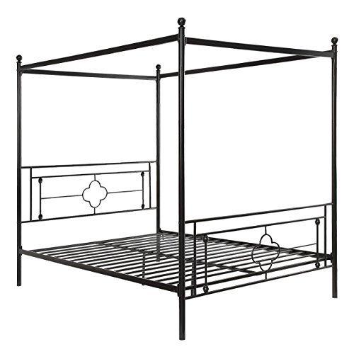 Homelegance Hosta Metal Canopy Bed, Queen, Black $399.18
