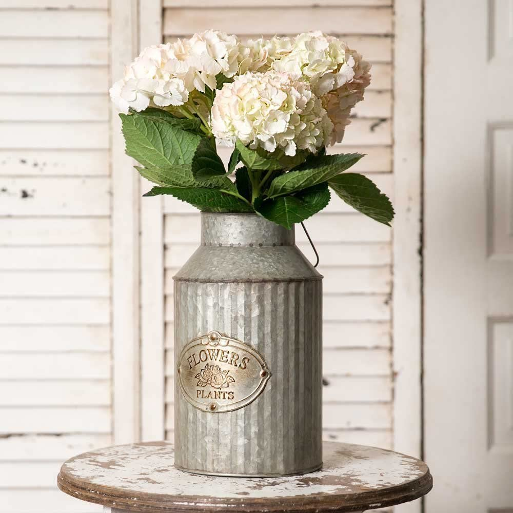 Farmhouse Chic Flowers and Plants Can with Handle $36.25