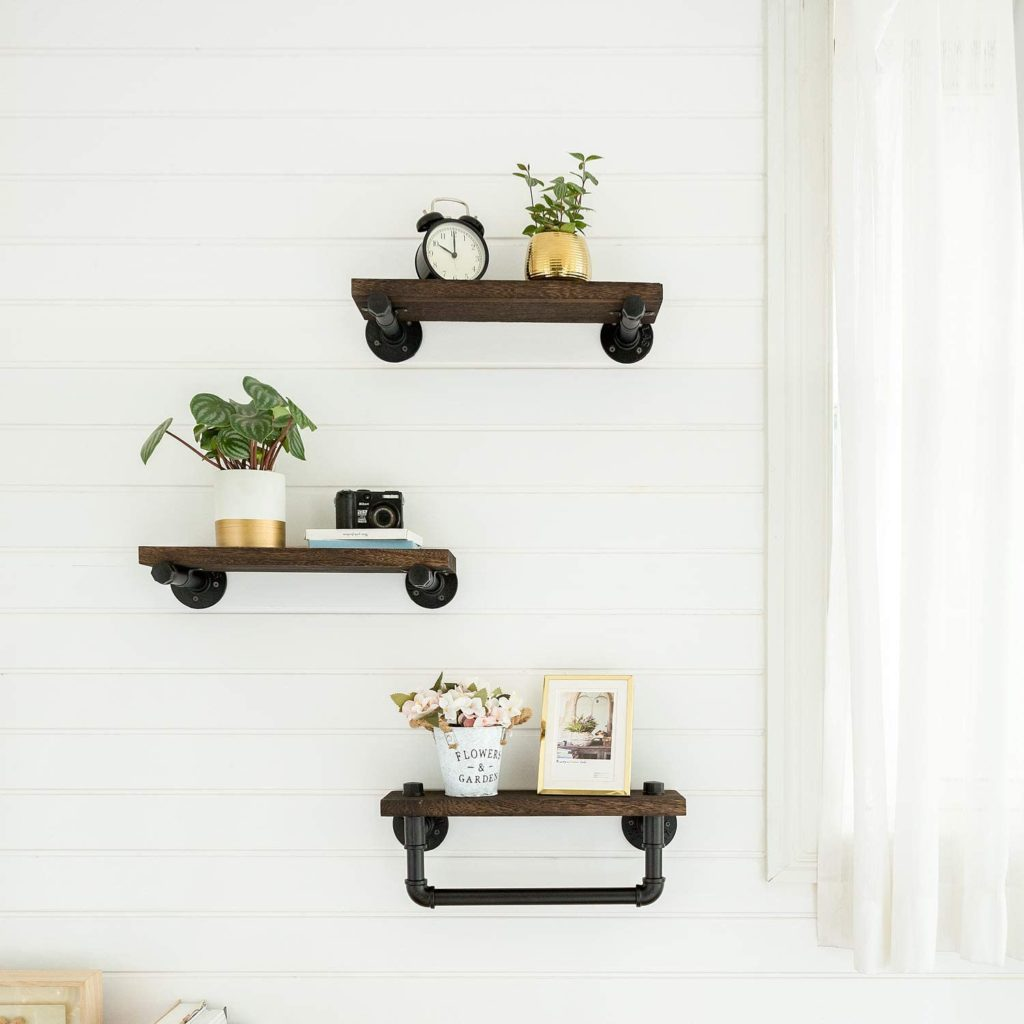 Industrial Pipe Brackets and Towel Bar $42.98