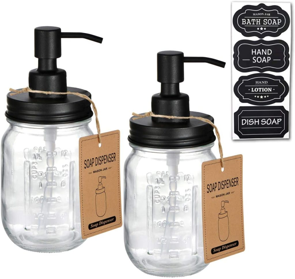 Farmhouse Decor for Kitchen/Bathroom,Liquid Soap Pumps for Hand Soap $20.49