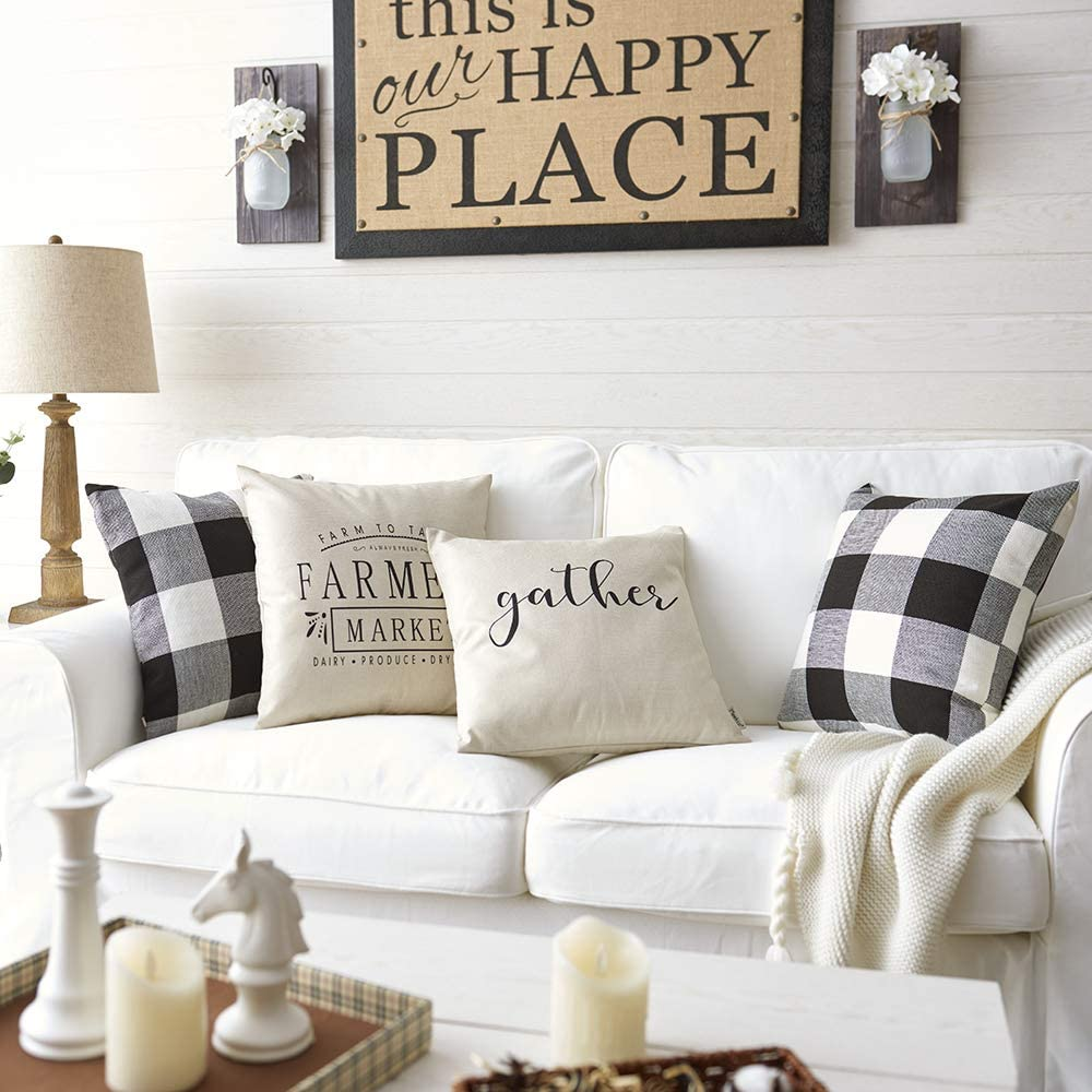 Farmhouse Pillow Covers with Farmers Market Quotes $7.99