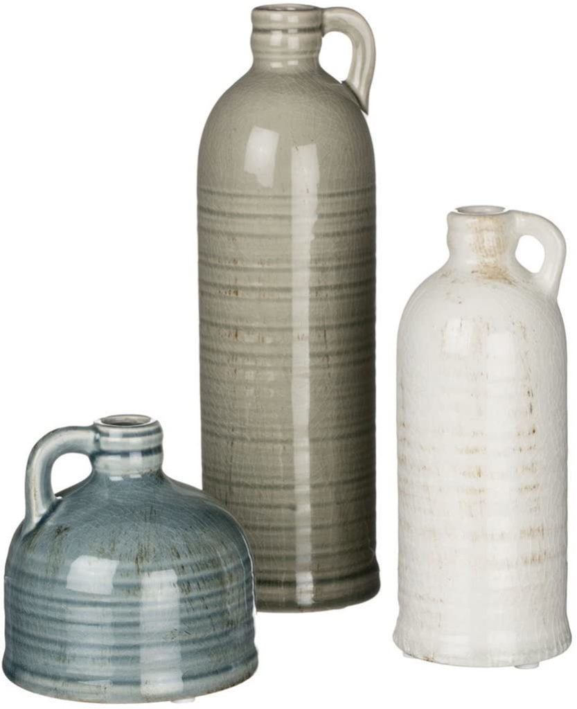 Farmhouse Home Decor, Set of 3 Vases $36.99