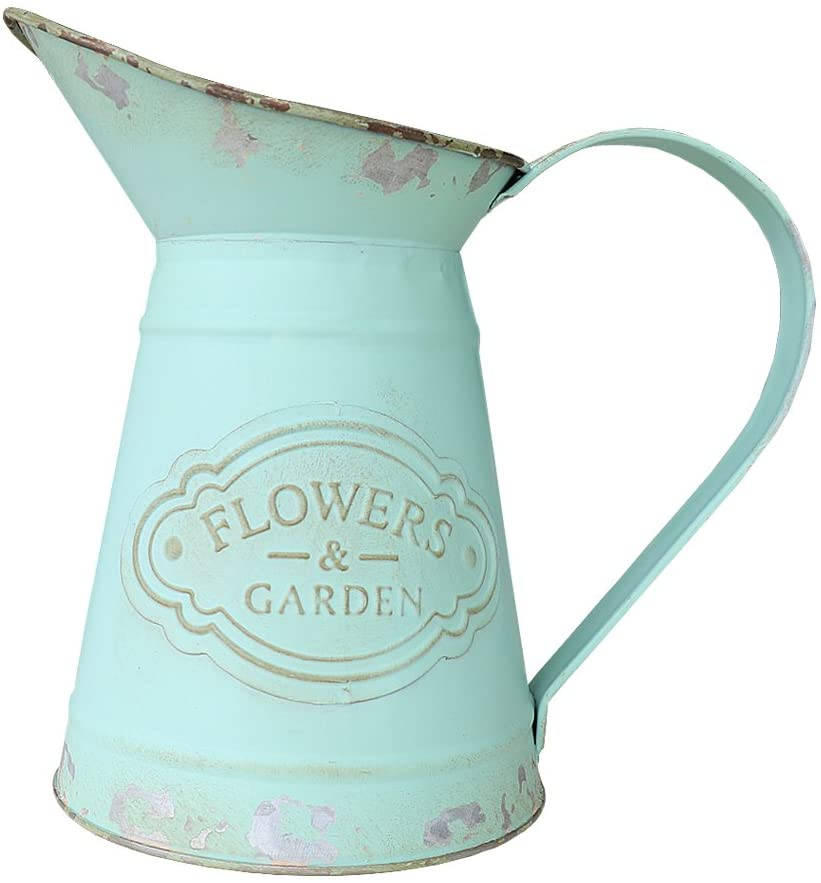 Chic Metal Jug Vase Pitcher Flower Holder for Home Decoration $19.99