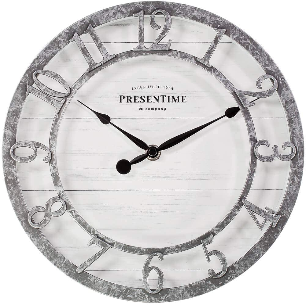 "10"" Farmhouse Series Wall Clock $19.99"