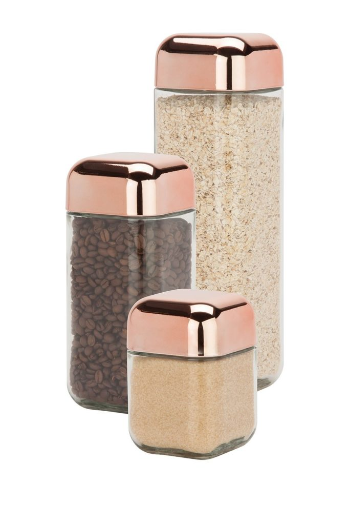 Honey-Can-Do Square Storage Jar - Set of 3 $36.97