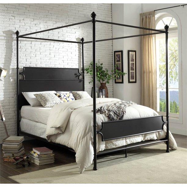 Furniture of America Mallie Queen Metal Canopy Bed in Bronze $642.97